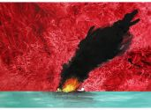 Fire on the Water 50 x 70 cm