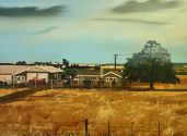 A RANCH 2017 80 x 120 cm oil on canvas