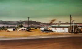 THE POST OFFICE ON ROUTE 66 2016 100 x 150 cm oil on canvas